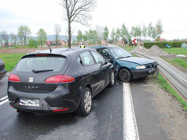 Zderzenie dwóch pojazdów w Kołaczycach