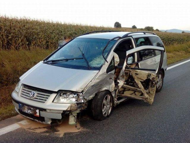 Wypadek w Szebniach. Były spore utrudnienia w ruchu!