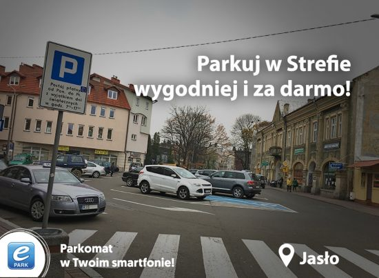 Weź udział w Promocji ePARK i parkuj w Płatnej Strefie za free aż do końca grudnia. Kierowcy w Jaśle parkują wygodniej i za darmo!