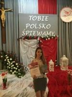 """I nagroda dla Julii Zielińskiej  w XXIX Ogólnopolskim Festiwalu """"Polonia semper  Fidelis"""""""